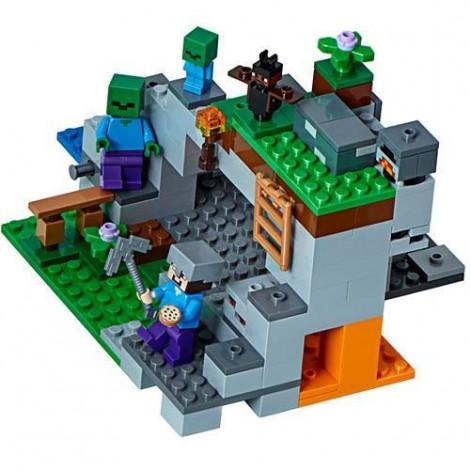 Imagine 2LEGO Minecraft Pestera cu Zombi