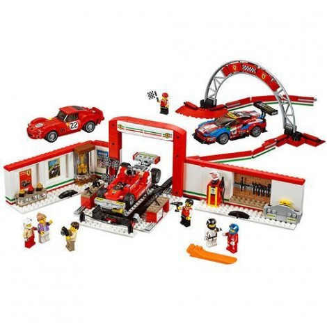 Imagine 2LEGO Speed Champions Garajul Suprem Ferrari