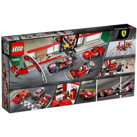 Imagine 3LEGO Speed Champions Garajul Suprem Ferrari