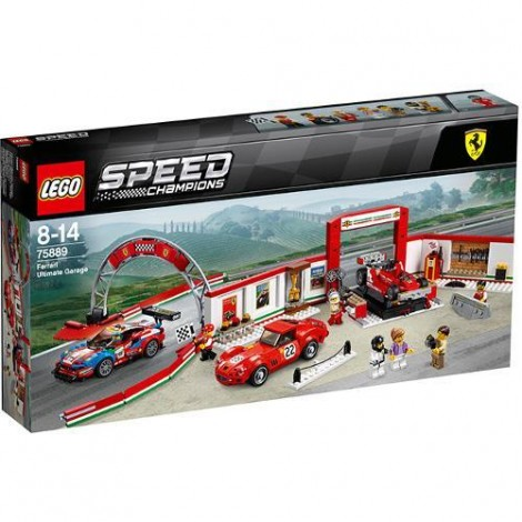 Imagine 1LEGO Speed Champions Garajul Suprem Ferrari