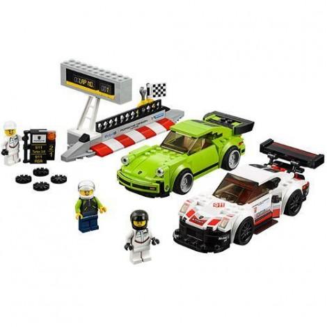 Imagine 2LEGO Speed Champions Porsche 911 RSR si 911 Turbo 3.0