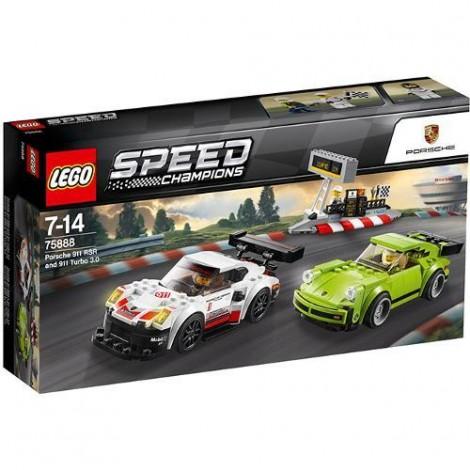 Imagine 1LEGO Speed Champions Porsche 911 RSR si 911 Turbo 3.0