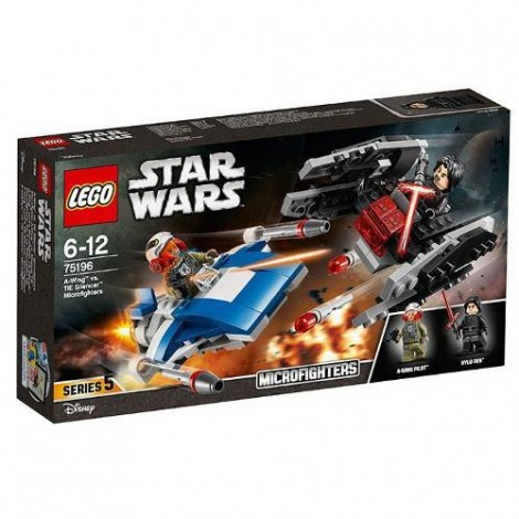 Imagine 1LEGO Star Wars A-Wing contra TIE Silencer Microfighters