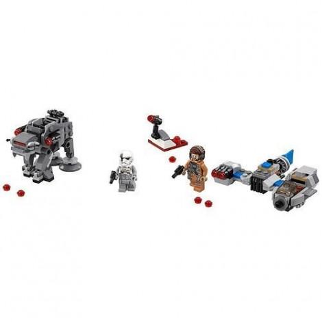 Imagine 2LEGO Star Wars Ski Speeder contra Walker al Ordinului Intai Microfighters