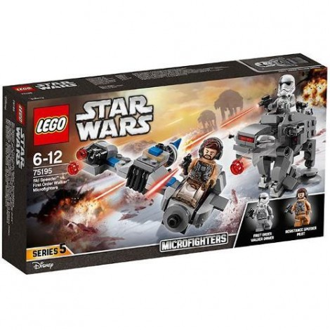 Imagine 3LEGO Star Wars Ski Speeder contra Walker al Ordinului Intai Microfighters