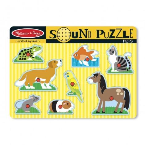 Imagine 1Puzzle de lemn cu sunete Animale de companie