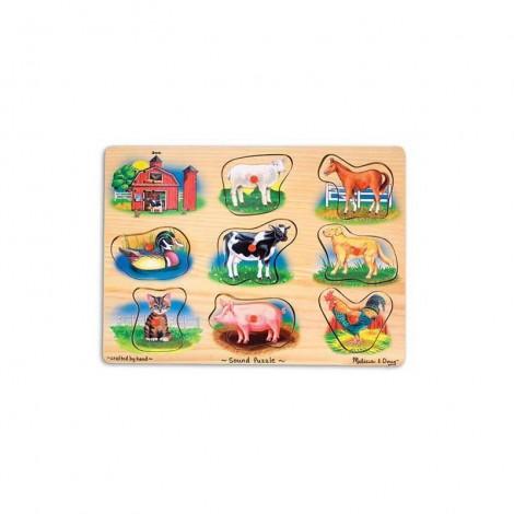 Imagine 1Puzzle lemn cu sunete Animale de la Ferma
