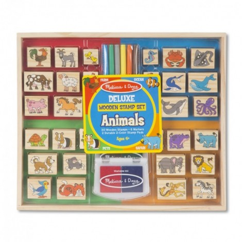 Imagine 1Set stampile din lemn Animale Deluxe