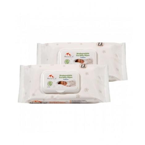 Imagine 1Pachet Promo Servetele ecologice biodegradabile pentru bebelusi 2 x 72 buc