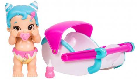 Imagine 2Bebelusi Little Live Babies cu functii si accesorii Swirlee