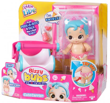 Imagine 1Bebelusi Little Live Babies cu functii si accesorii Swirlee
