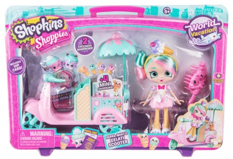 Imagine 1Shopkins Set papusa cu scooter inghetata