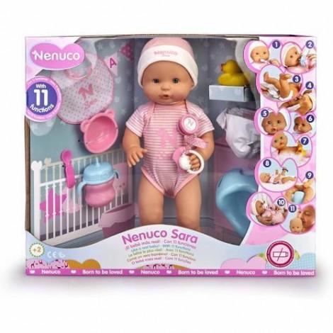 Imagine 1Papusa Bebe Sara cu Accesorii