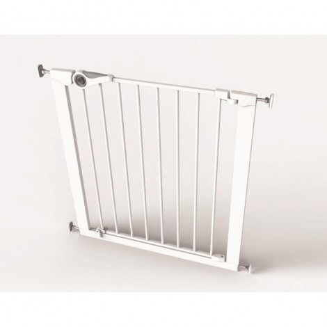 Imagine 3Poarta de siguranta Easy Fit, presiune, 75-82 cm, metal alb