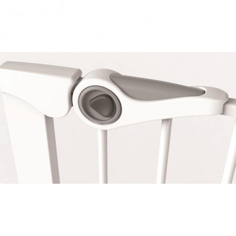 Imagine 4Poarta de siguranta Easy Fit, presiune, 75-82 cm, metal alb