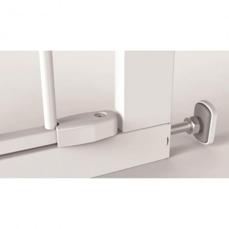 Imagine 5Poarta de siguranta Easy Fit, presiune, 75-82 cm, metal alb