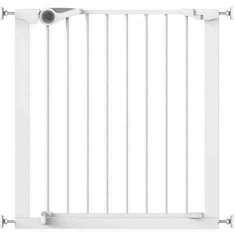 Imagine 1Poarta de siguranta Easy Fit, presiune, 75-82 cm, metal alb