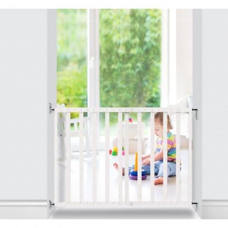 Imagine 3Poarta de siguranta extensibila 64 – 100 cm, lemn alb