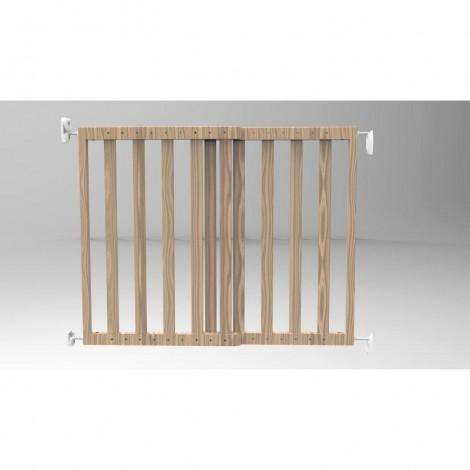 Imagine 2Poarta de siguranta extensibila 64 – 100 cm, lemn natur