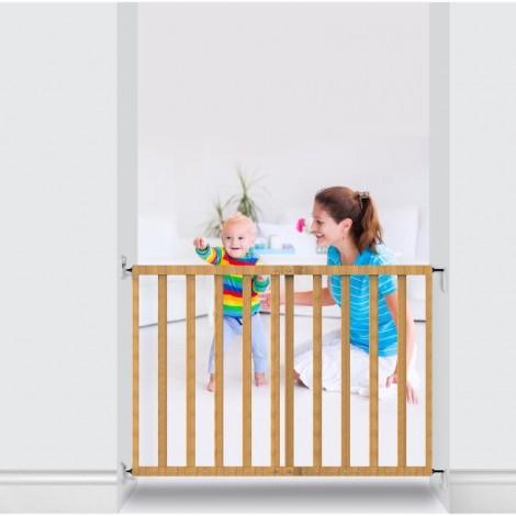 Imagine 3Poarta de siguranta extensibila 64 – 100 cm, lemn natur