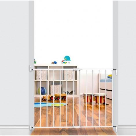 Imagine 3Poarta de siguranta extensibila 62 – 102 cm, metal alb
