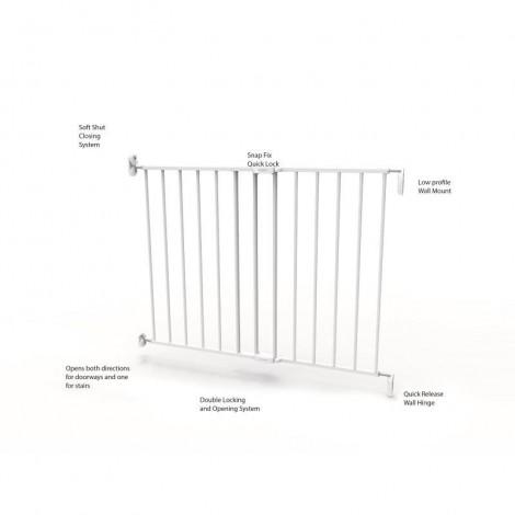 Imagine 7Poarta de siguranta extensibila 62 – 102 cm, metal alb