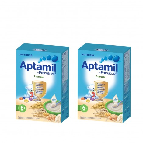 Imagine 1Pachet 2 x Cereale fara lapte, Aptamil 7 Cereale, 250g, 6luni+