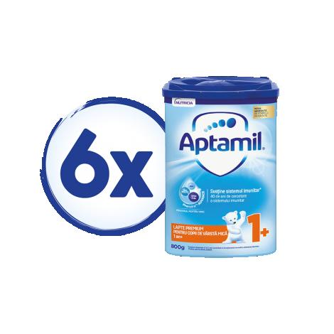 Imagine 1Pachet 6 x Lapte praf Aptamil Junior 1+, 800 gr