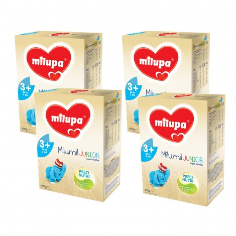 Imagine 1Pachet 4 x Lapte praf Milupa Milumil Junior 3+, 600g, 3ani+