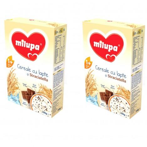Imagine 1Pachet 2 x Milupa Cereale cu lapte si stracciatella, 250g, 12 luni+