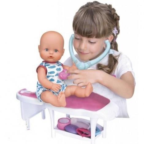 Imagine 2Papusa Bebelus Nenuco Baietel cu Stetoscop si Termometru