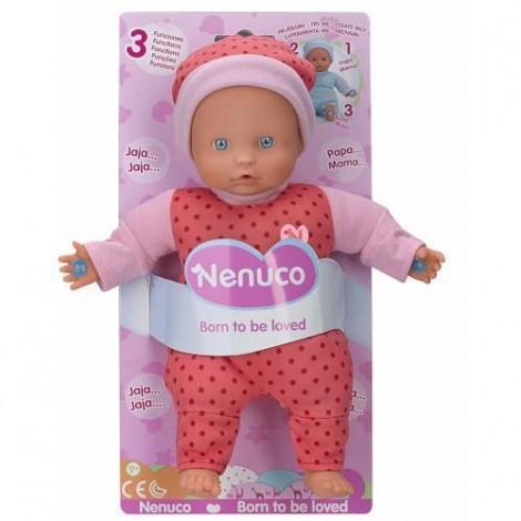 Imagine 2Papusa Bebelus Nenuco in Pijama Roz cu 3 Functii