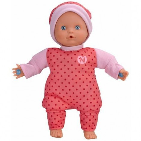 Imagine 1Papusa Bebelus Nenuco in Pijama Roz cu 3 Functii