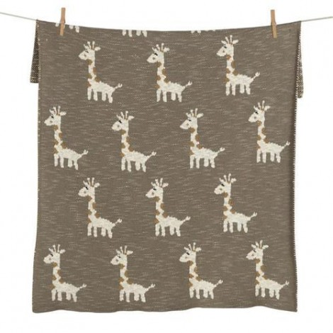 Imagine 3Paturica crosetata pentru casa si excursii 80 x 65 cm Giraf