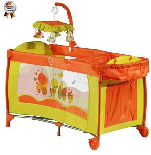 Patut Pliant Cu 2 Nivele Si Mini-Carusel Sleeper Deluxe Orange