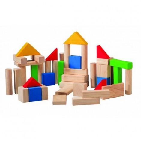Imagine 1Set de construit din lemn cu 50 de piese