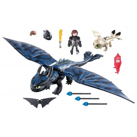 Imagine 2HICCUP, TOOTHLESS SI PUI DE DRAGON