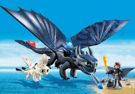 Imagine 3HICCUP, TOOTHLESS SI PUI DE DRAGON