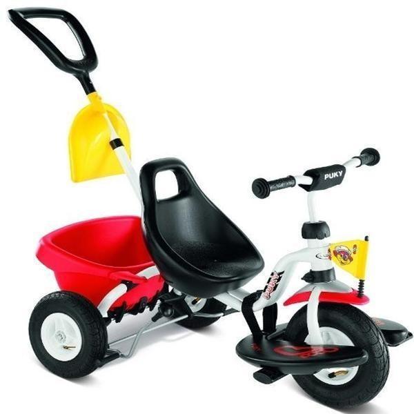 Tricicleta cu Maner pentru Parinti - Alb