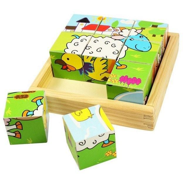 Imagine indisponibila pentru Puzzle cubic - animale domestice