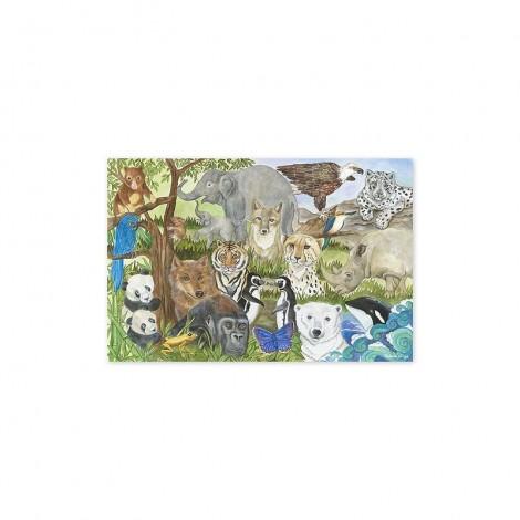 Imagine 1Puzzle de podea Animale protejate