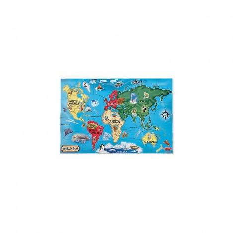 Imagine 1Puzzle de podea Harta Lumii