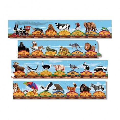 Imagine 1Puzzle de podea Trenul alfabet