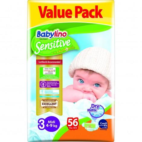 Imagine 1Scutece Babylino Sensitive Economy N3 4-9kg/56buc