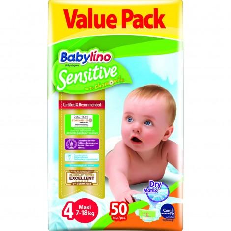 Imagine 1Scutece Babylino Sensitive Economy N4 7-18kg/50 buc