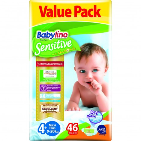 Imagine 1Scutece Babylino Sensitive Economy N4+ 9-20kg/46 buc