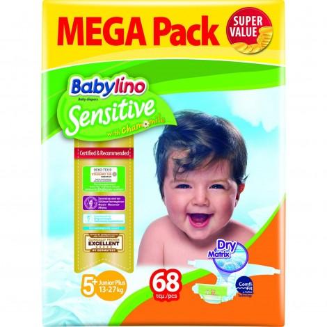 Imagine 1Scutece Babylino Sensitive Megapack Junior Plus N5+/68 buc