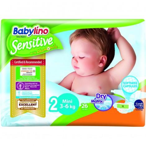 Imagine 1Scutece Babylino Sensitive N2 3-6kg/26 buc