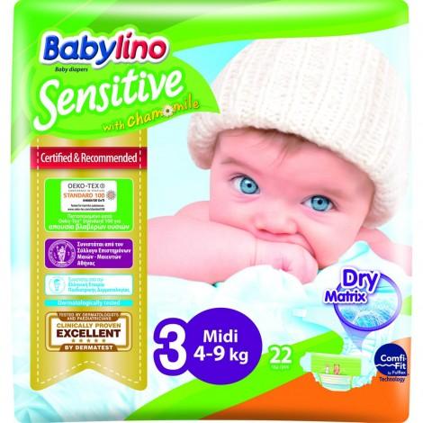 Imagine 1Scutece Babylino Sensitive N3 4-9kg/22 buc
