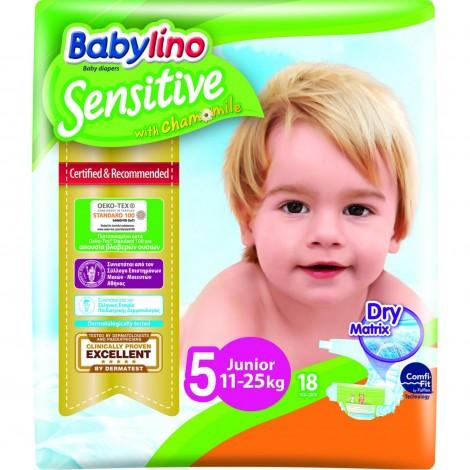 Imagine 1Scutece Babylino Sensitive N5 11-25kg/18 buc